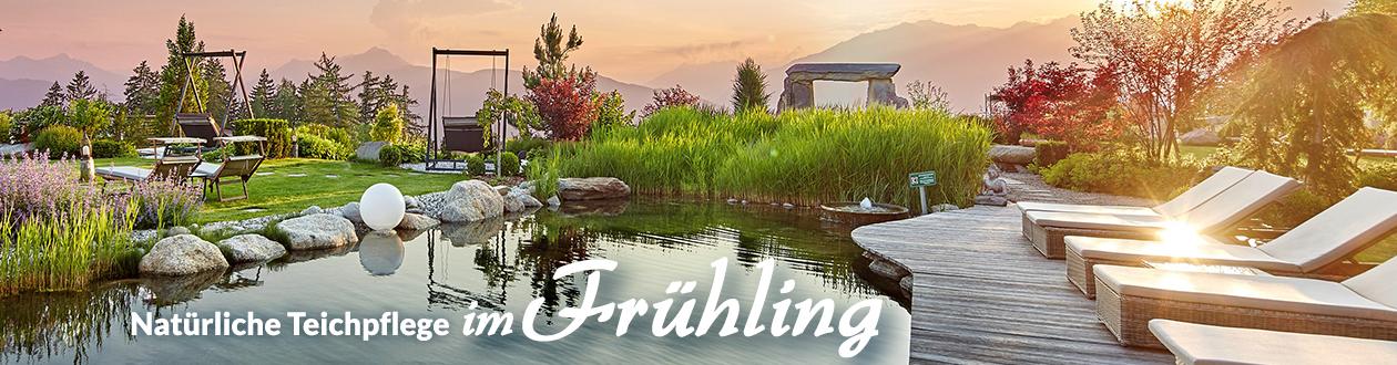 Teichpflege zur Frühlings-Saison